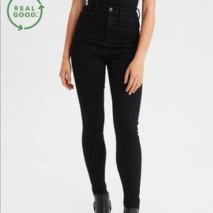 AE Ne(x)t Level High Waisted Black Skinny Jeans